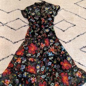 Anthropologie Dresses - Anthropologie Multicolor Embroidered Dress